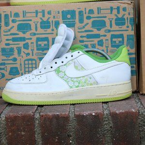 Nike air force 1 af1 low  Chlorophyll green white